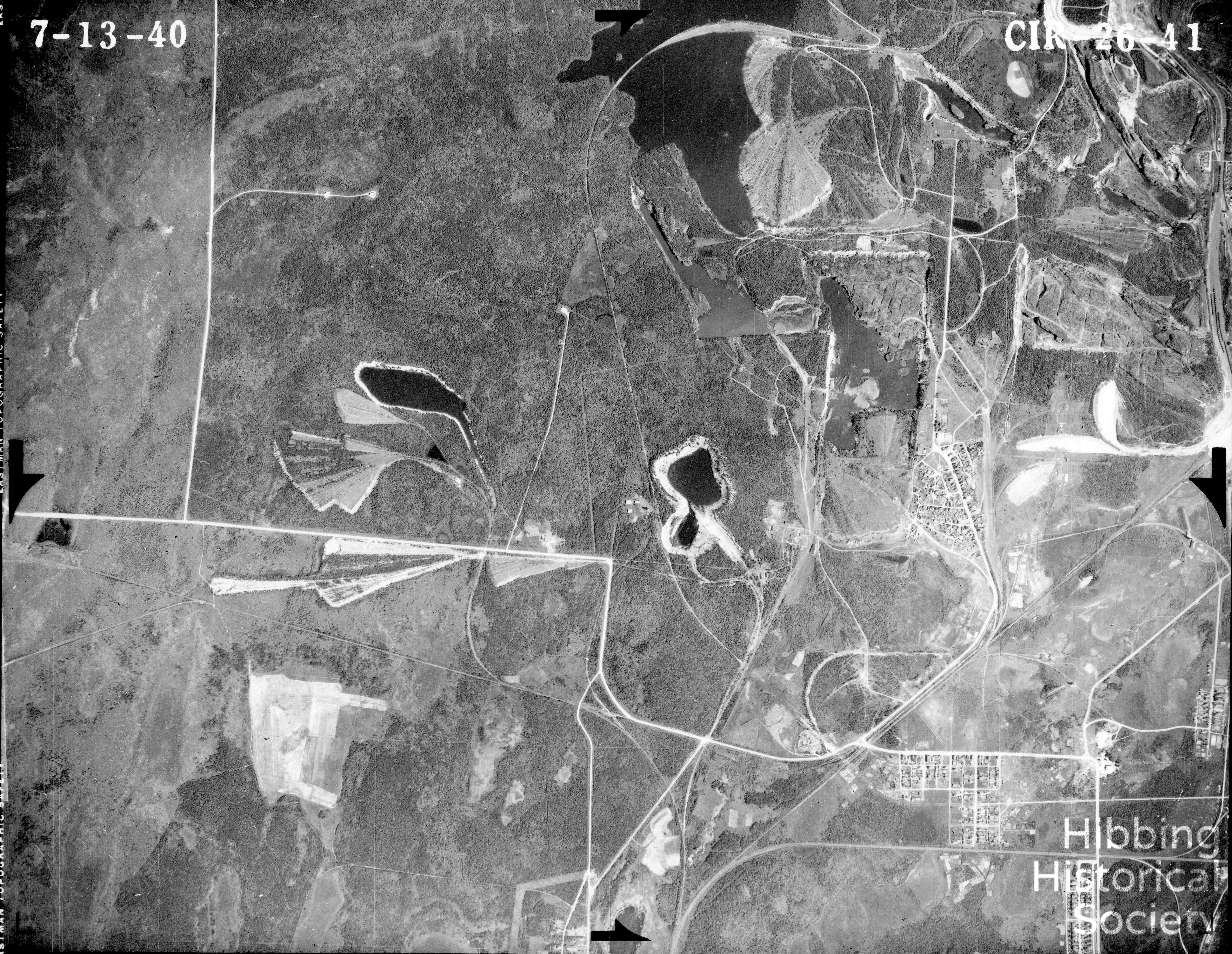 Carson Lake aerial map, 1939