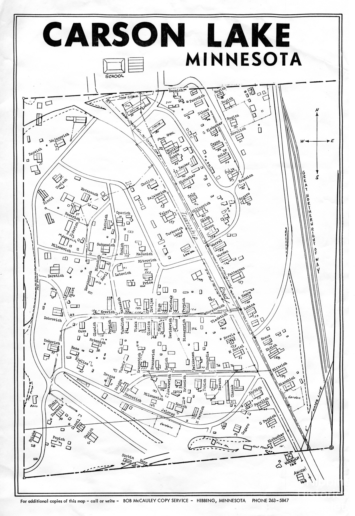 Carson Lake Map with Residents