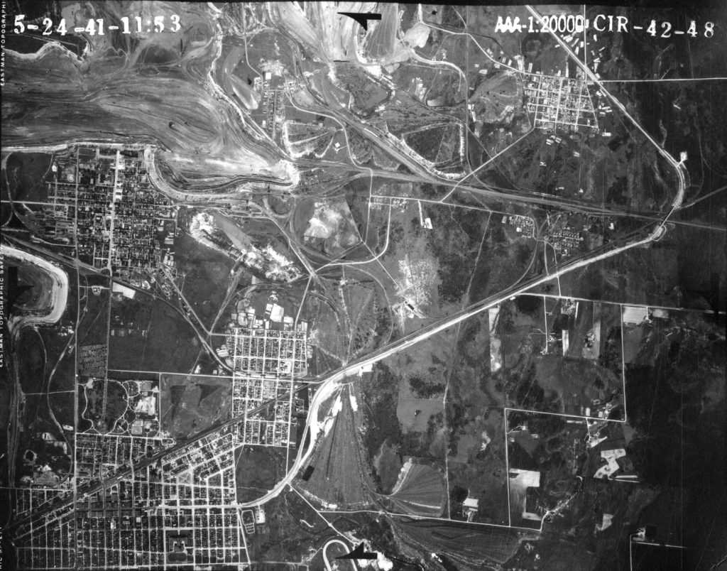 Aerial Map, Mitchell 1941