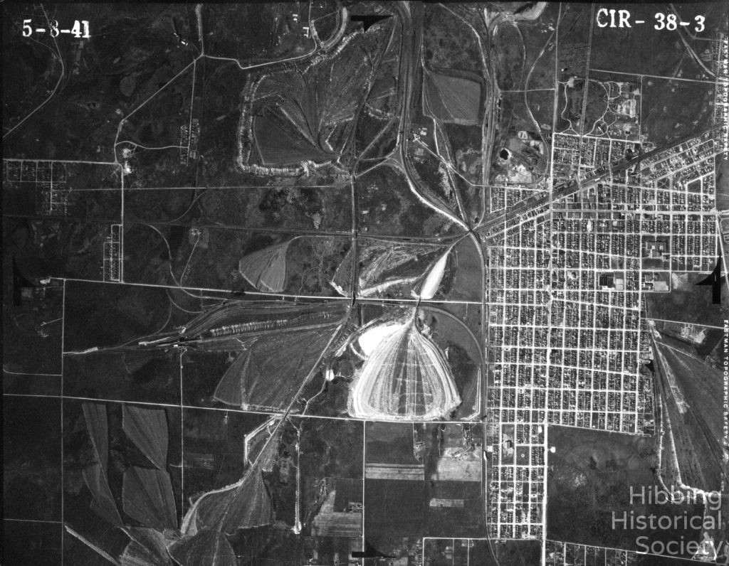 Aerial Map, West Hibbing 1941