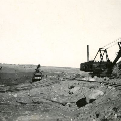 Hull Rust Mining Operations, Poole Location at left horizon