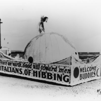 Italians of Hibbing Parade float at Poole fairgrounds race track 1
