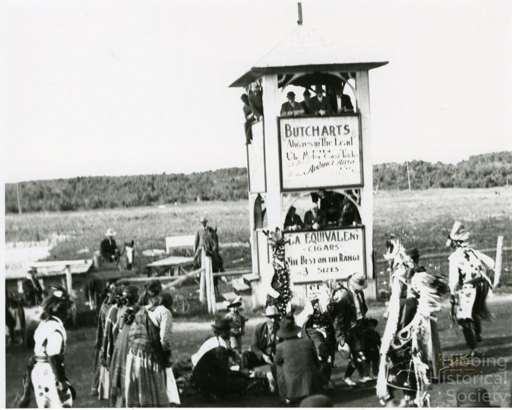 Native American demonstration at Poole Fairgrounds, 1914